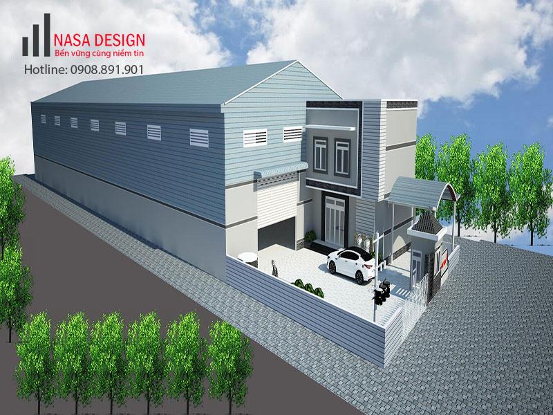 Thiết kế thi công xây dựng nhà xưởng