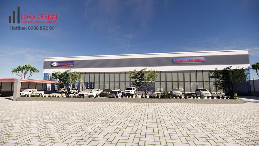 Thiết kế nhà xưởng và showroom công ty Toyota