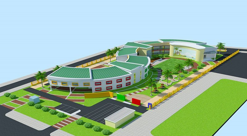Thiết kế thi công xây dựng trường mầm non mẫu giáo Bình Dương